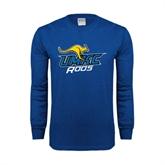 Royal Long Sleeve T Shirt-UMKC Roos w/Roo