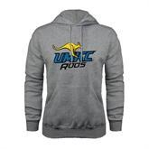 Grey Fleece Hoodie-UMKC Roos w/Roo