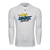 Under Armour White Long Sleeve Tech Tee-UMKC Roos w/Roo