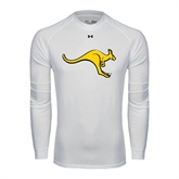 Under Armour White Long Sleeve Tech Tee-Roo