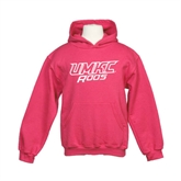 Youth Raspberry Fleece Hood-UMKC Roos