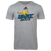 Adidas Sport Grey Logo T Shirt-UMKC Roos w/Roo