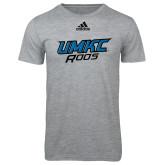 Adidas Sport Grey Logo T Shirt-UMKC Roos