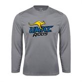 Performance Steel Longsleeve Shirt-UMKC Roos w/Roo