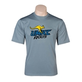 Performance Grey Concrete Tee-UMKC Roos w/Roo