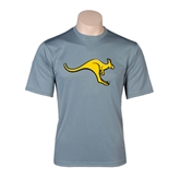 Performance Grey Concrete Tee-Roo