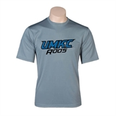 Performance Grey Concrete Tee-UMKC Roos