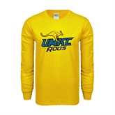 Gold Long Sleeve T Shirt-UMKC Roos w/Roo