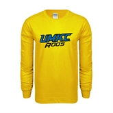 Gold Long Sleeve T Shirt-UMKC Roos