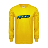 Gold Long Sleeve T Shirt-Roos