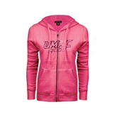 ENZA Ladies Fuchsia Fleece Full Zip Hoodie-Roo