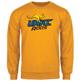 Gold Fleece Crew-UMKC Roos w/Roo