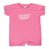 Bubble Gum Pink Infant Romper-UMKC Roos