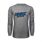 Grey Long Sleeve TShirt-UMKC Roos