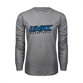 Grey Long Sleeve TShirt-Basketball