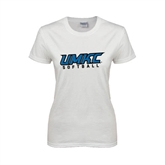 Ladies White T Shirt-Softball