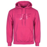 Fuchsia Fleece Hoodie-UMKC Roos w/Roo Distressed Foil