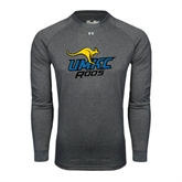 Under Armour Carbon Heather Long Sleeve Tech Tee-UMKC Roos w/Roo