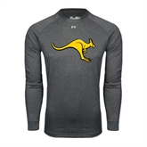 Under Armour Carbon Heather Long Sleeve Tech Tee-Roo