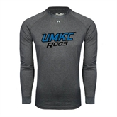Under Armour Carbon Heather Long Sleeve Tech Tee-UMKC Roos