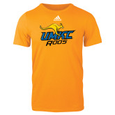 Adidas Gold Logo T Shirt-UMKC Roos w/Roo