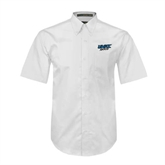 White Twill Button Down Short Sleeve-UMKC Roos