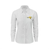 Ladies White Oxford Shirt-Roo