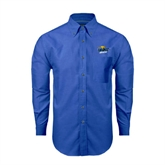 Mens Royal Oxford Long Sleeve Shirt-UMKC Roos w/Roo