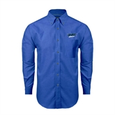 Mens Royal Oxford Long Sleeve Shirt-UMKC Roos