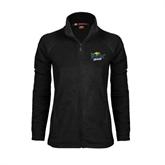 Ladies Fleece Full Zip Black Jacket-UMKC Roos w/Roo