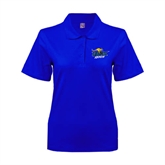 Ladies Easycare Royal Pique Polo-UMKC Roos w/Roo