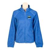 Ladies Fleece Full Zip Royal Jacket-UMKC Roos w/Roo