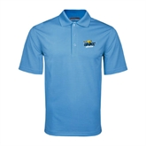 Light Blue Mini Stripe Polo-UMKC Roos w/Roo