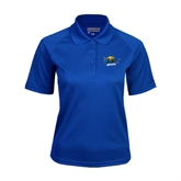 Ladies Royal Textured Saddle Shoulder Polo-UMKC Roos w/Roo