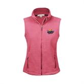 Ladies Fleece Full Zip Raspberry Vest-UMKC Roos w/Roo