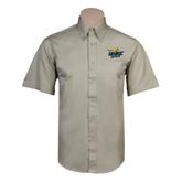 Khaki Twill Button Down Short Sleeve-UMKC Roos w/Roo