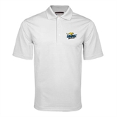 White Mini Stripe Polo-UMKC Roos w/Roo