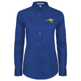 Ladies Royal Twill Button Down Long Sleeve-Roo
