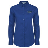 Ladies Royal Twill Button Down Long Sleeve-UMKC Roos