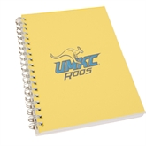 Clear 7 x 10 Spiral Journal Notebook-UMKC Roos w/Roo
