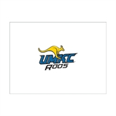 6 1/4 x 4 5/8 Flat Cards w/Blank Envelopes 10/pkg-UMKC Roos w/Roo