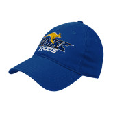 Royal Twill Unstructured Low Profile Hat-UMKC Roos w/Roo
