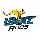 Large Magnet-UMKC Roos w/Roo, 12 in W