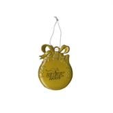 Gold Bulb Ornament-UMKC Roos w/Roo Engraved