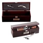 Napa Wine Case-UMKC Roos Engraved