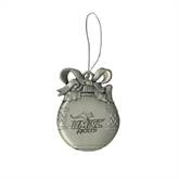 Silver Bulb Ornament-UMKC Roos w/Roo Engraved