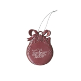 Bulb Pink Pewter Ornament-UMKC Roos w/Roo Engraved