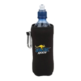 Collapsible Black Bottle Holder-UMKC Roos w/Roo