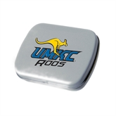 Silver Rectangular Peppermint Tin-UMKC Roos w/Roo