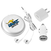 3 in 1 White Audio Travel Kit-UMKC Roos w/Roo